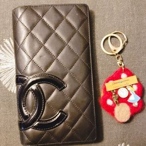 Chanel cambon wallet well loved.